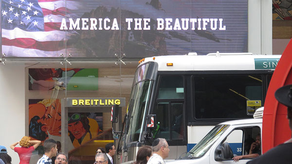 Natpis: America the beautiful