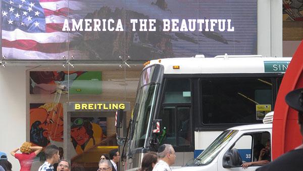 Natpis: America the beautiful