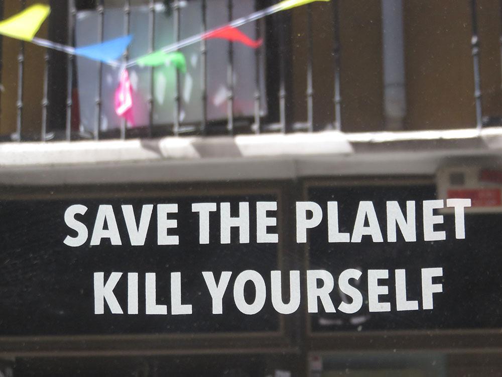 Ubij se i spasi planetu, Foto: Peščanik