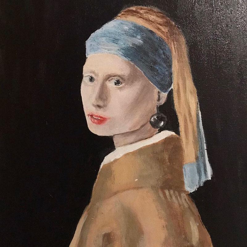 Devojka s bisernom naušnicom, rad autorove nećake Beatrice Monti