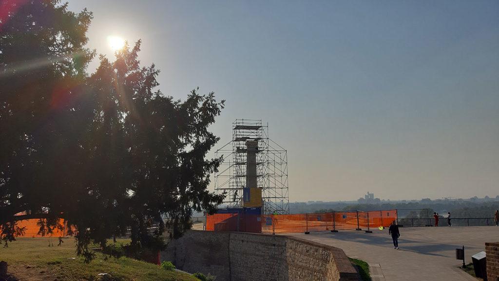 Stub bez Pobednika na Kalemegdanu, oktobar 2019, foto: Peščanik