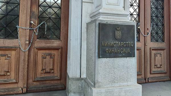 Lanci na ministarstvu finansija da Mali ne može da uđe, 25.11, foto: Ne davimo Beograd
