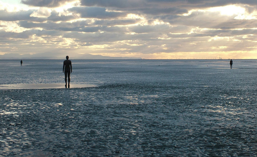 Antony Gormley's seamen sculptures: Another Place