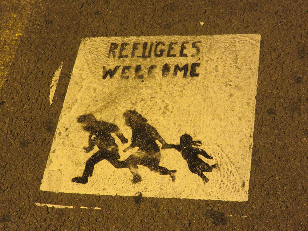 Stensil: Refugees Welcome