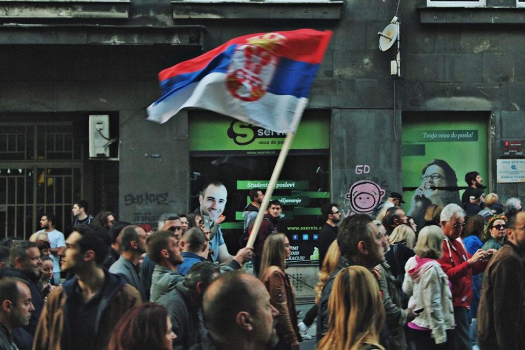 From a pro-Vucic rally, photo: Predrag Trokicic