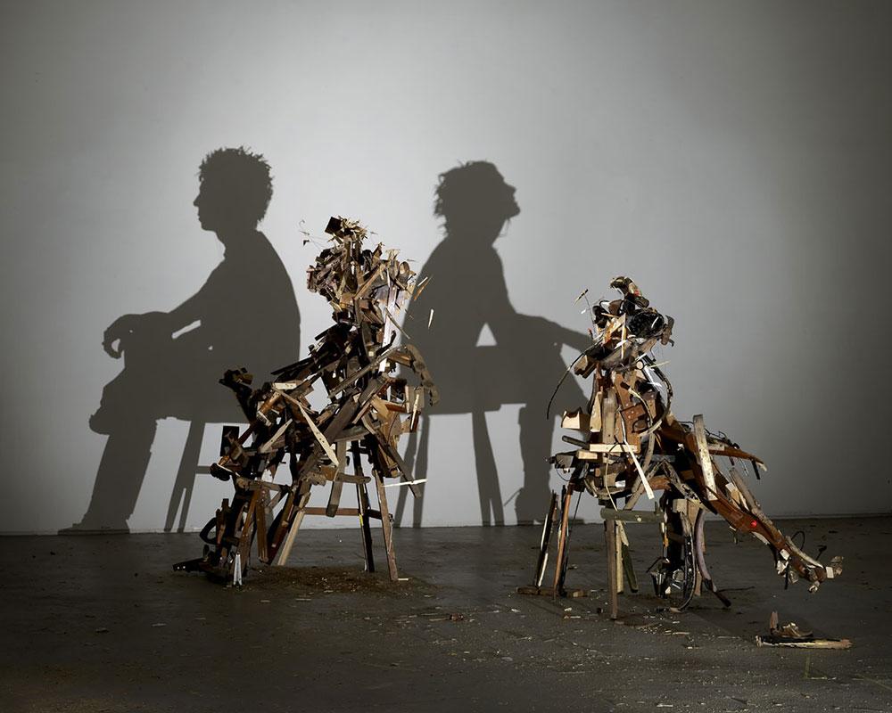 Shadow Art Ilusion: Wild Mood Swings, Tim Noble & Sue Webster