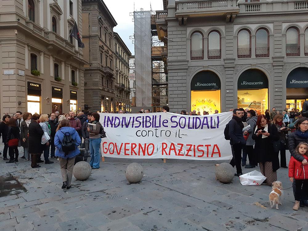 Protesti protiv Salvinijevog dolaska u Firencu 2019, foto: Peščanik