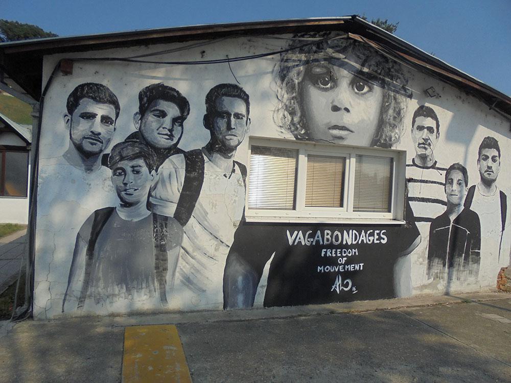 Sloboda kretanja, grafit na Ušću u Beogradu, foto: Slavica Miletić