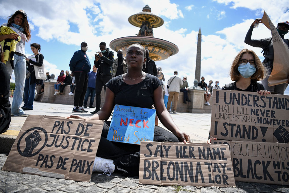Place de la Concorde, Paris, 6.6.2020, foto: Anne-Christine Poujoulat/AFP via Getty Images