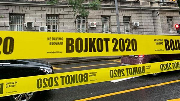 Ispred RIK-a u Beogradu, 5.6.2020, foto: NDMBGD