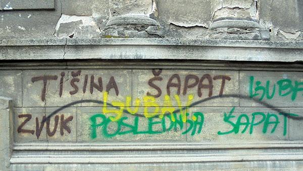 grafiti na zidu