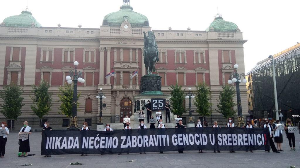 Transparent: Nikada nećemo zaboraviti genocid u Srebrenici, Žene u crnom, 10.07.2020, Beograd
