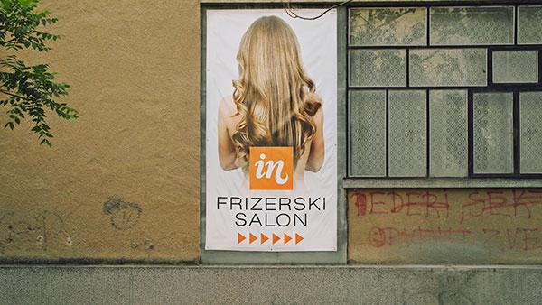 Reklama za frizerski salon