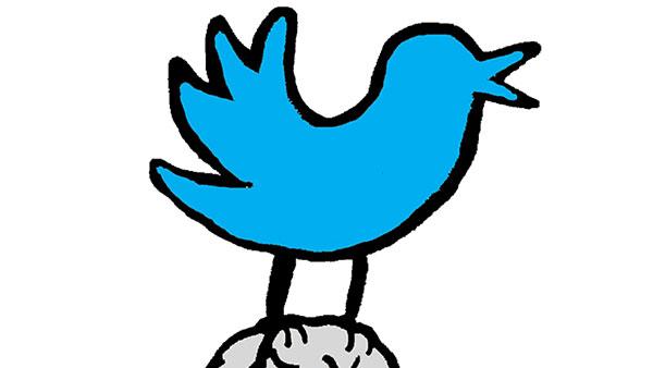 Twitter ptičica odnosi mozak Janezu Janši