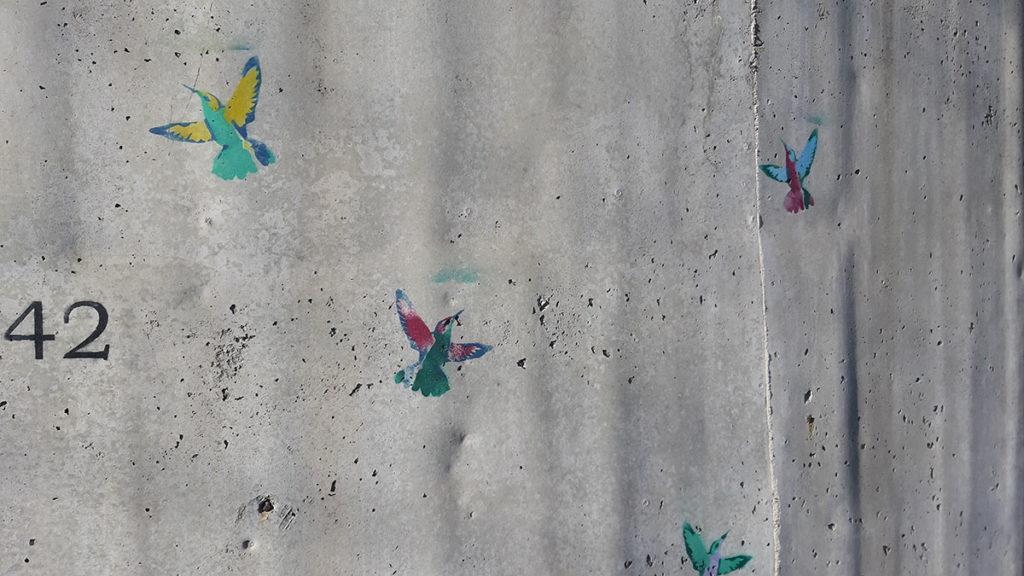 Ptice nacrtane na zidu
