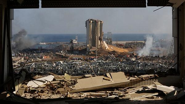 Srušena luka u Bejrutu