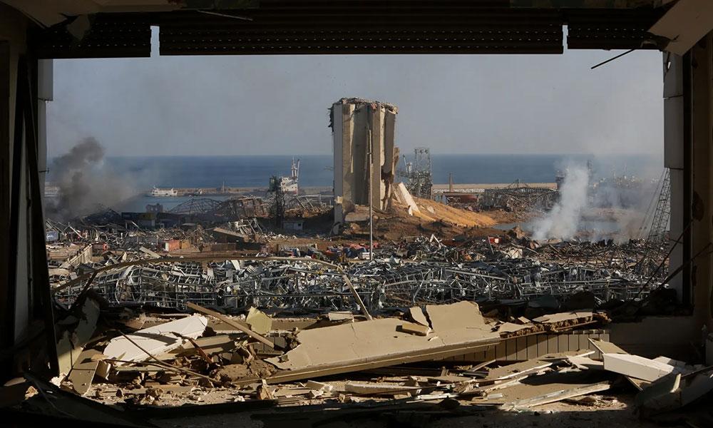 Ratrušena luka u Bejrutu posle eksplozije