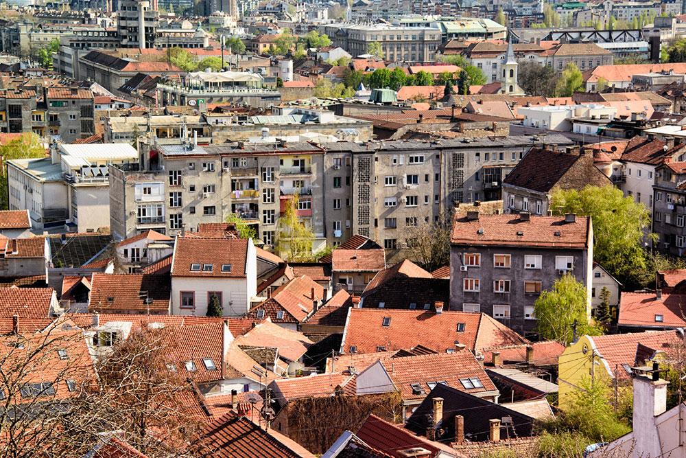 krovovi kuća na Gardošu