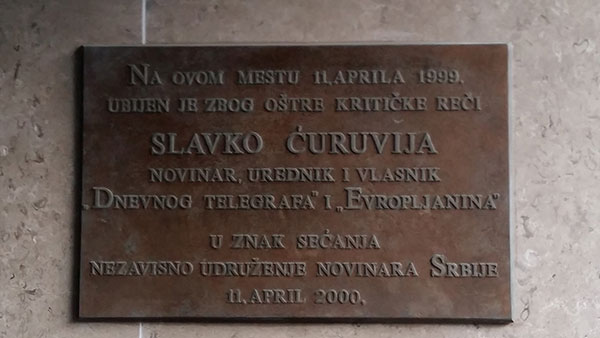 Pomen tabla za Slavka Ćuruviju