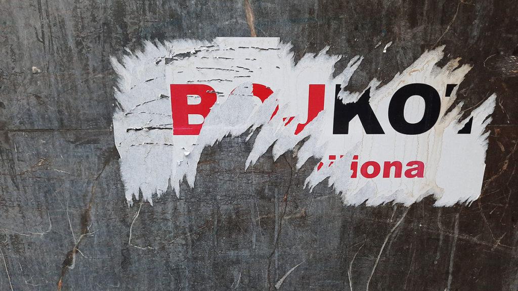 boycott stickers