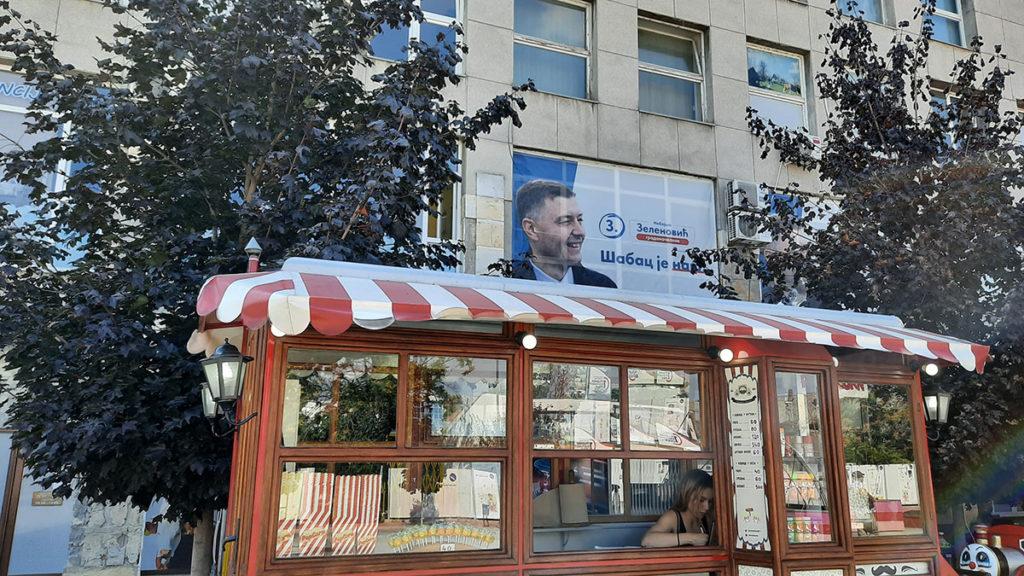 Plakat za izbore u Šapcu sa likom Zelenovića