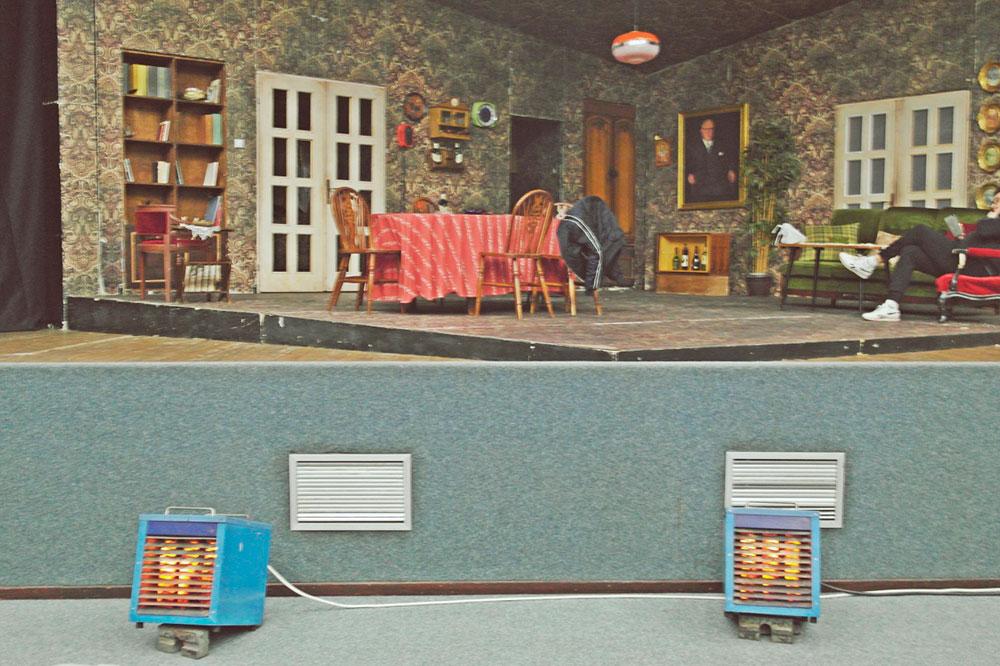 pozorišna scena za Urnebesnu komediju izvedenu u Negotinu
