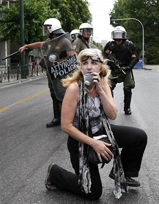 Protesti u Atini, foto: NTV