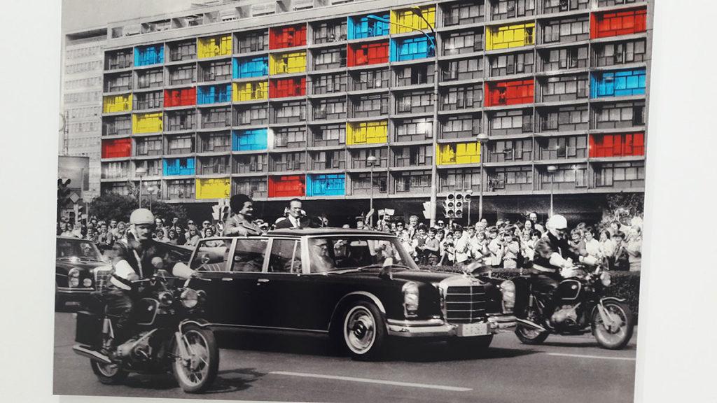 Sanja Iveković, Novi Zagreb, Ljudi iza prozora, 1979, MSUB, foto: Peščanik