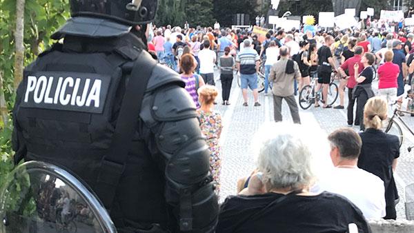 Protest u Ljubljani