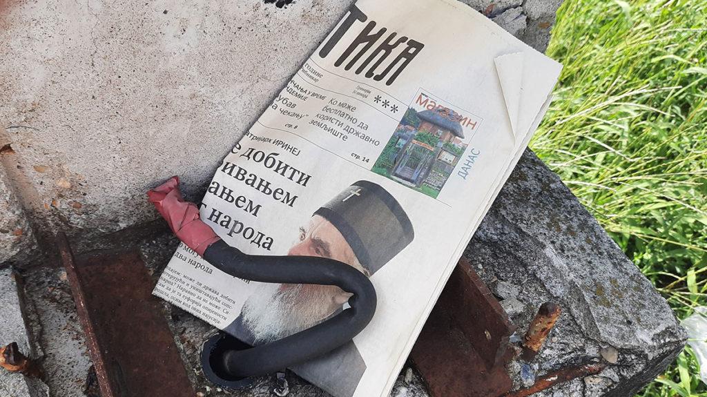 naslovnica Politike na kojoj je patrijarh Irinej