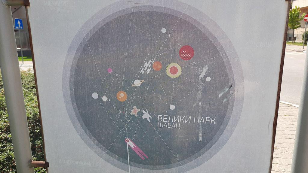 Tabla za Veliki park Šabac