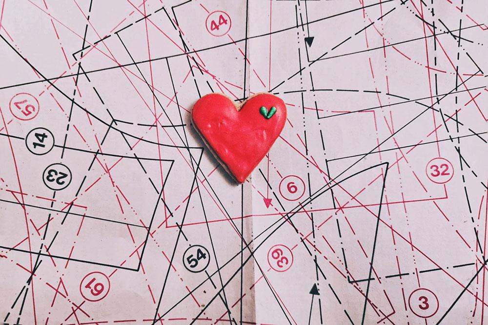 kolač uobliku srca