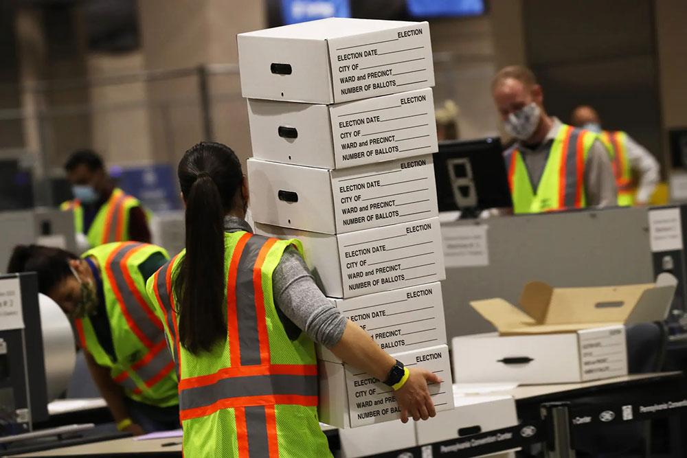 Brojanje glasova u Pensilvaniji, foto: Spencer Platt/Getty Images