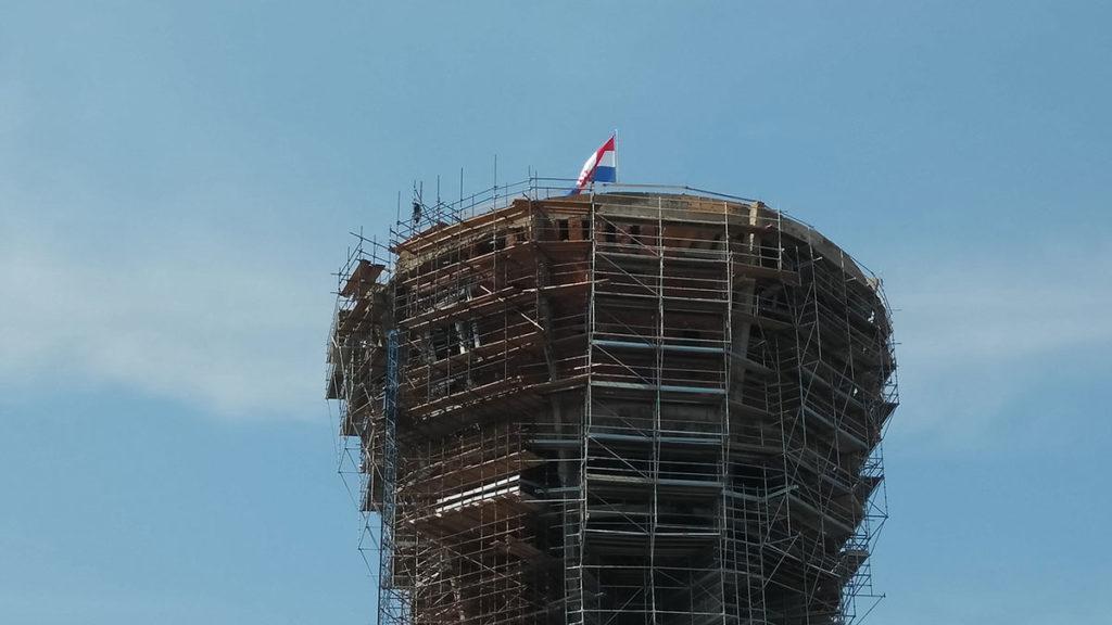 Obnova vodotornja u Vukovaru, avgust 2018.