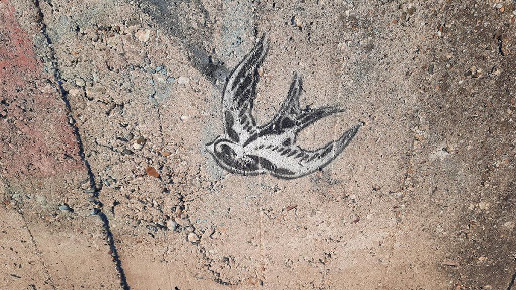stensil ptica