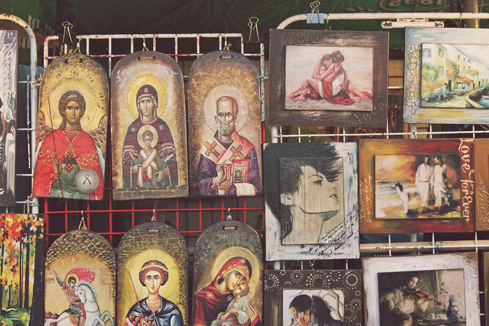 ikone izložene na prodaju