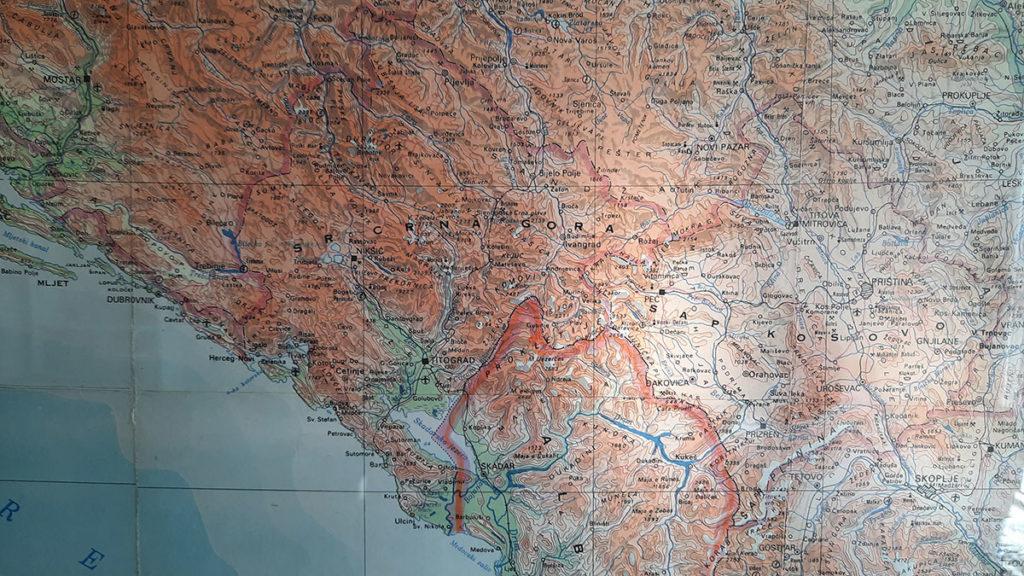 Detalj mape Jugoslavije, foto: Peščanik