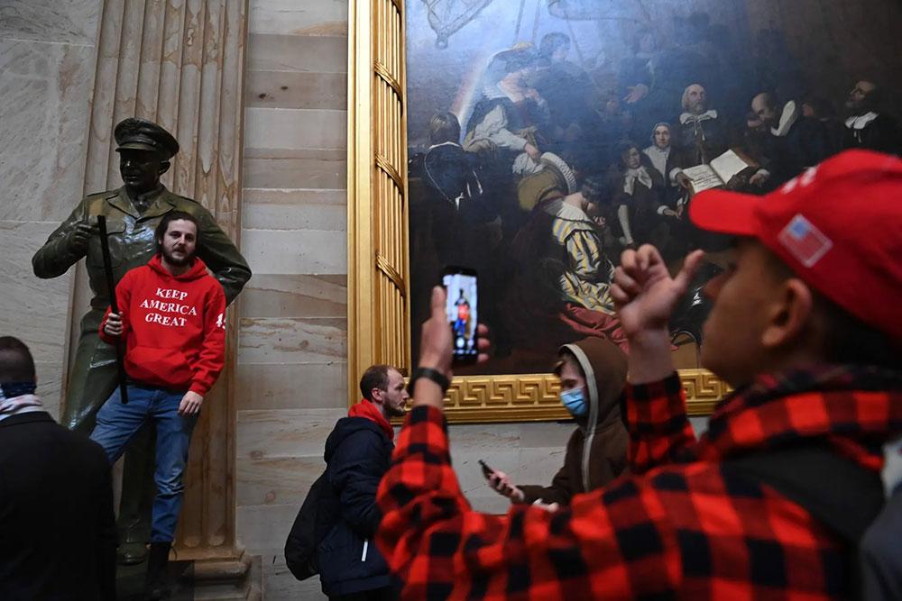 Kapitol 6. januara 2021, foto: Saul Loeb/AFP/Getty Images