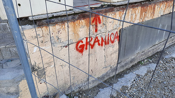 Natpis: Granica