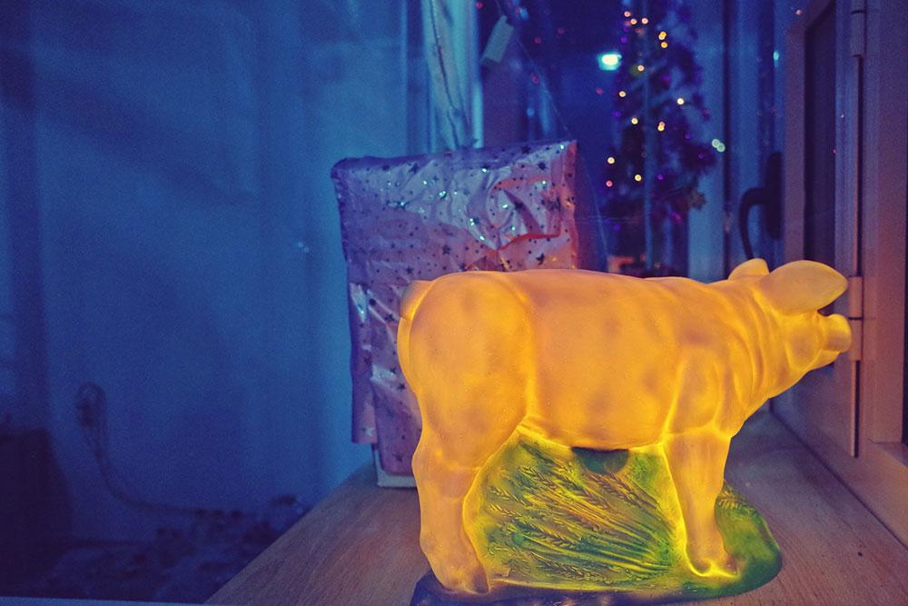 lampa - zlatno prase