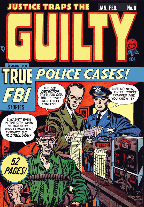 Joe Simon and Jack Kirby: Justice Traps the Guilty, volume 2 number 2 (Prize Comics, January 1949), Wikimedia Commons