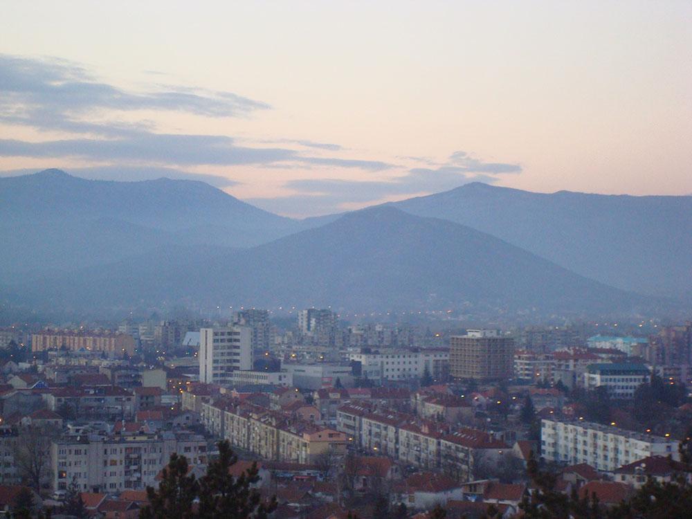 Nikšić, pogled sa Trebjese