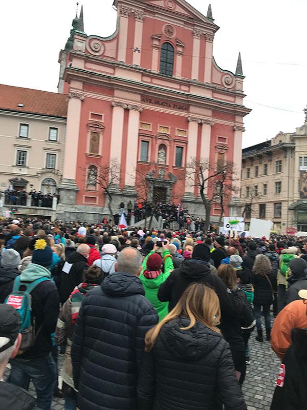 Protestni skup u Ljubljani