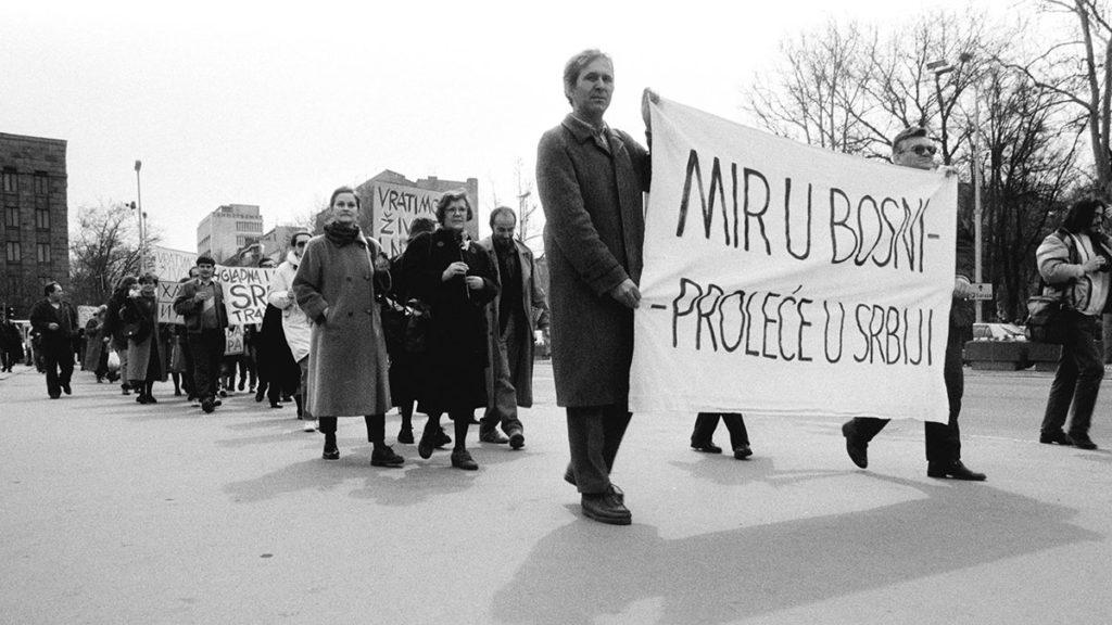 Protest mira, 3. april 1993, foto: Goranka Matić