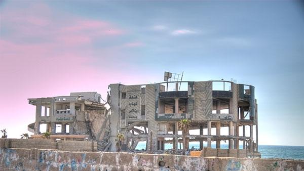 Uništena zgrada u Gazi