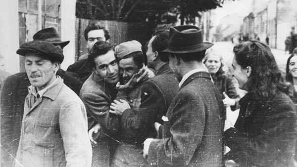 Beograd oktobra 1944, doček oslobodilaca, foto: nepoznati autor