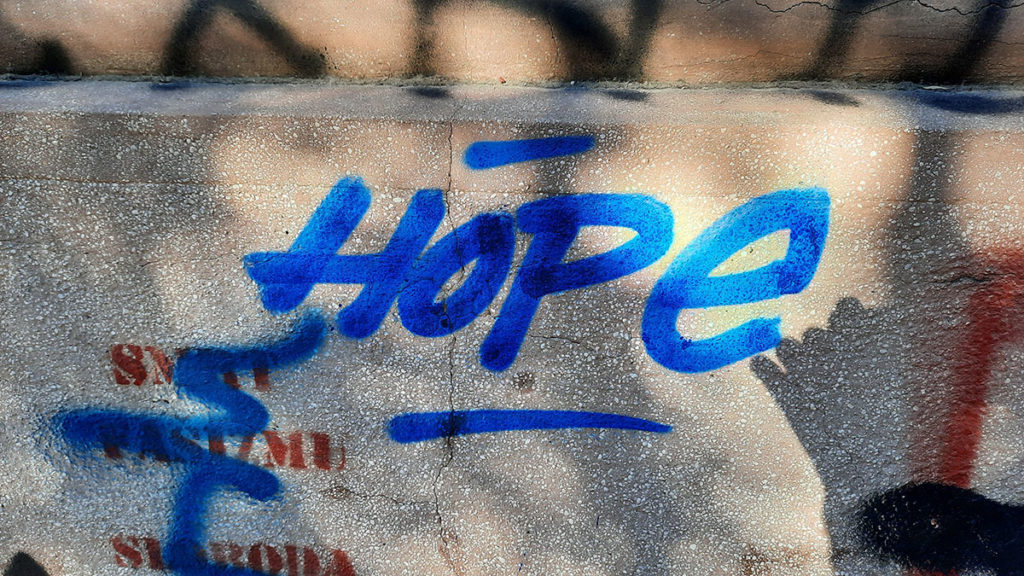 Natpis: Hope