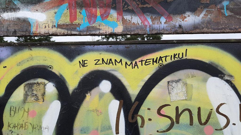 natpis: Ne znam matematiku