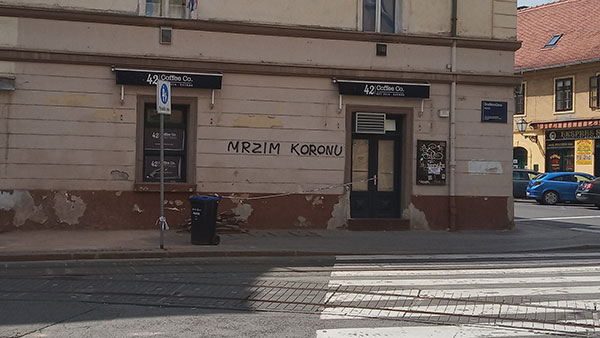 Grafit na raskrižju Draškovićeve i Vlaške ulice u Zagrebu, foto: Franjo Tahy/Wikimedia Commons