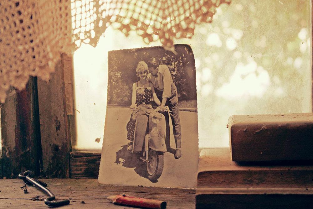 stara fotografija, žena i muškarac